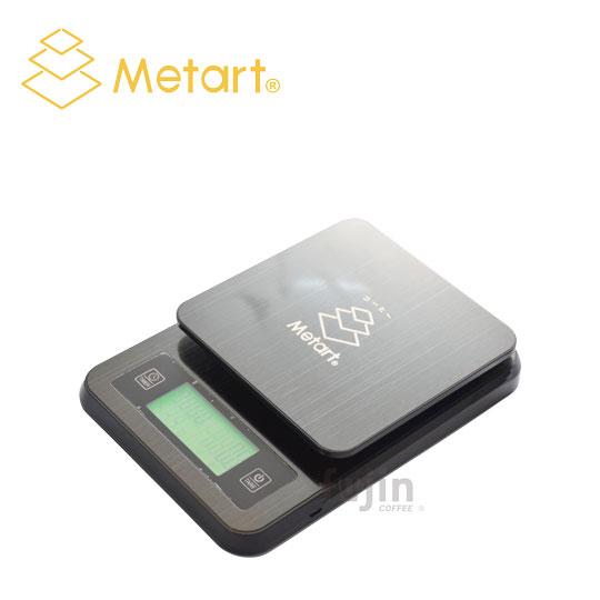 Metart 不鏽鋼計時測溫電子秤(附溫度計)-黑