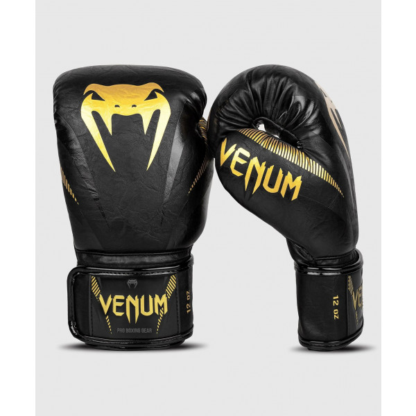 VENUM IMPACT系列 專業拳擊手套 - 金/黑 - EU-03284-126
