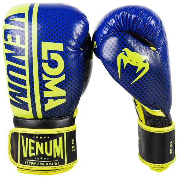 VENUM SHIELD系列 專業拳擊手套 LOMA聯名款 - 藍/黃 - EU-03911-405