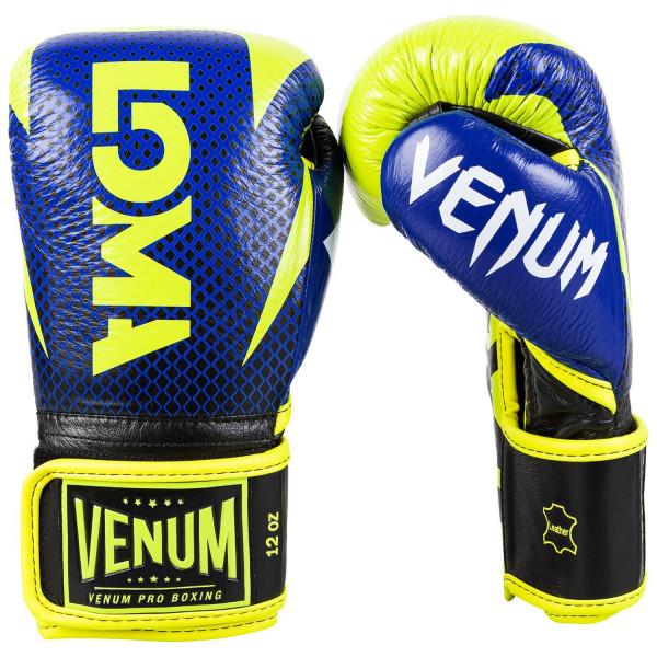 VENUM HAMMER系列 專業拳擊手套 LOMA聯名款 - 藍/黃 - EU-03912-405