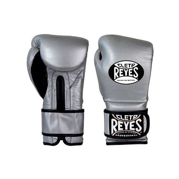 CLETO REYES 專業級拳擊訓練手套 - 銀 - E612L