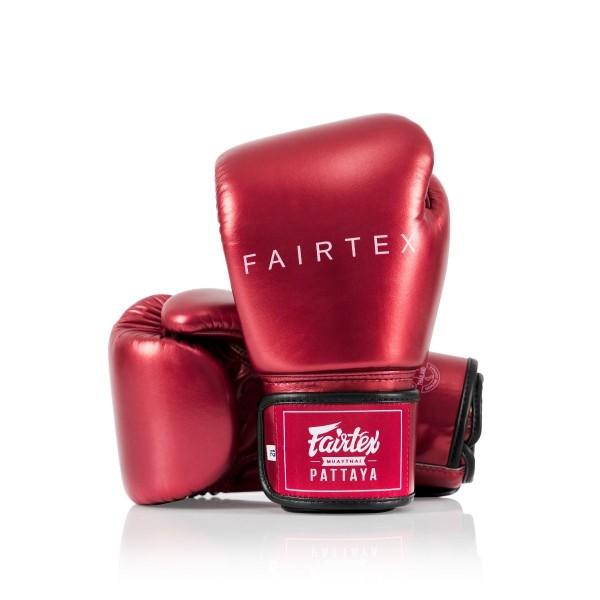 FAIRTEX 限量款 金屬色系列 真皮拳擊手套 - 紅 - BGV22