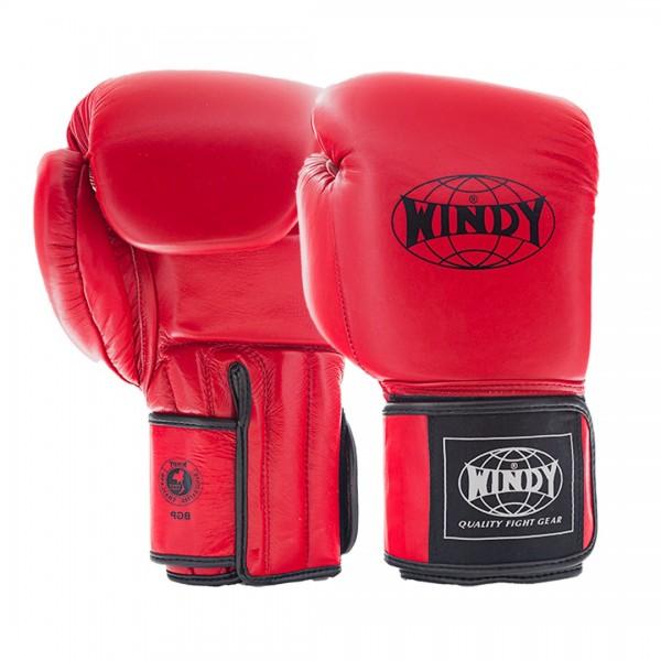 WINDY 真皮拳擊手套 掌心增厚款 - 紅 - BGP BRIGHT