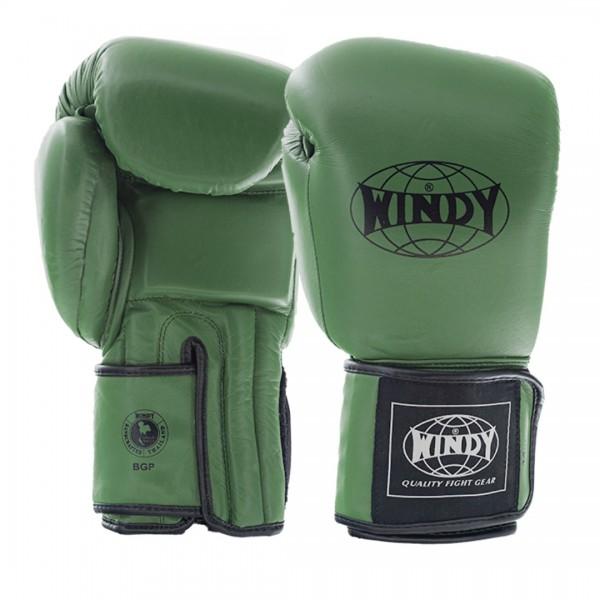 WINDY 真皮拳擊手套 掌心增厚款 - 綠 - BGP Army