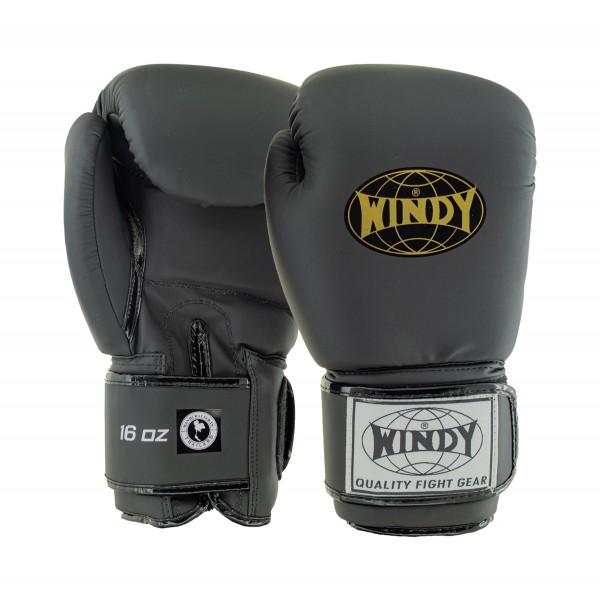 WINDY 經典兒童拳擊手套 - 黑/金 - BGVU