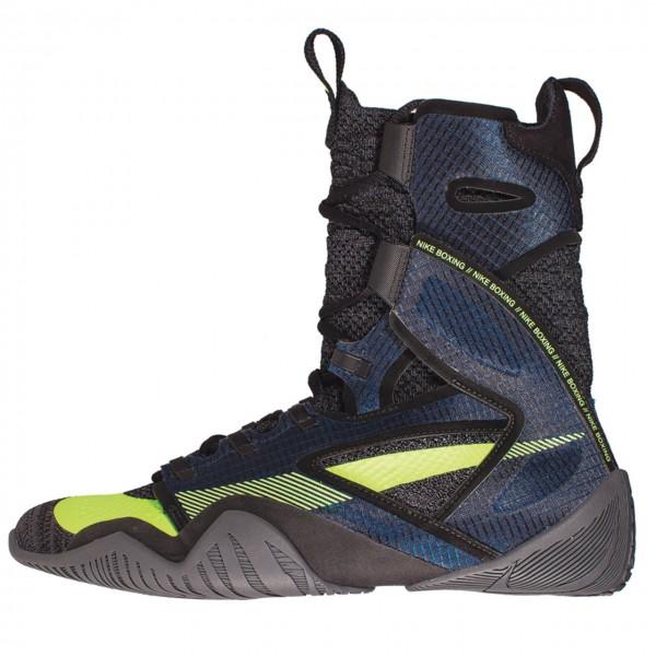NIKE HYPERKO 2.0 高筒拳擊鞋 - 藍灰底螢光黃勾 - CI2953-004