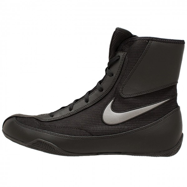 NIKE MACHOMAI系列 2代 中筒拳擊鞋 - 黑底灰勾 - 321819-001