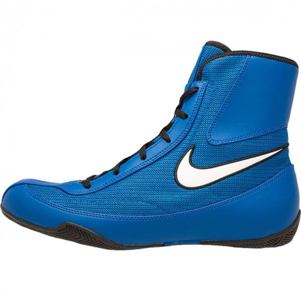 NIKE MACHOMAI系列 2代 中筒拳擊鞋 - 藍底白勾 - 321819-410