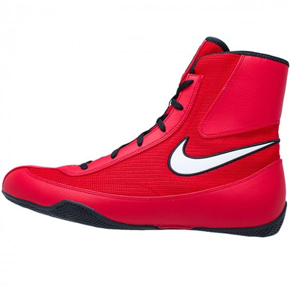 NIKE MACHOMAI系列 2代 中筒拳擊鞋 - 紅底白勾 - 321819-610