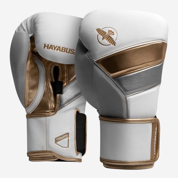 HAYABUSA T3系列 專業拳擊手套 - 白/金 - T310G-WGD