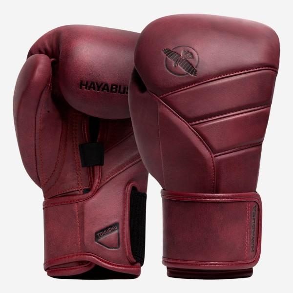 HAYABUSA T3 LX系列 專業拳擊手套 - 酒紅 - T3LX12G-BU