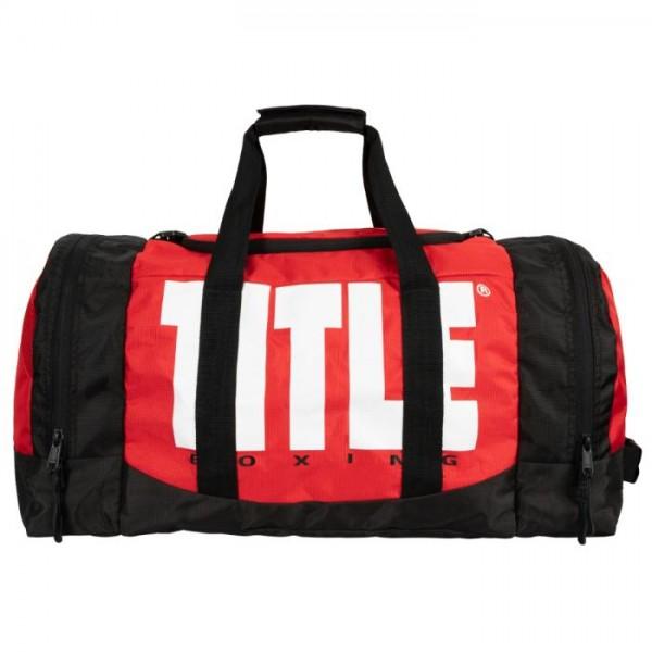 TITLE 勝利者 運動旅行袋/護具袋 - 紅/黑 - TBAG36 RD/BK