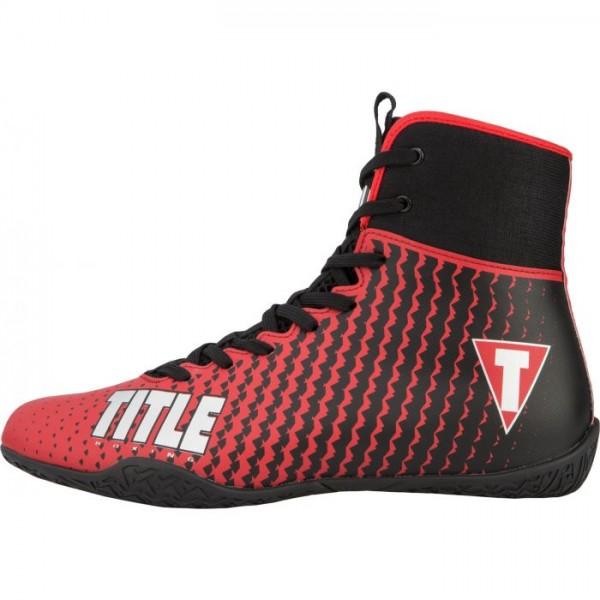 TITLE PREDATOR II 中筒拳擊鞋 - 紅/黑 - TBS12