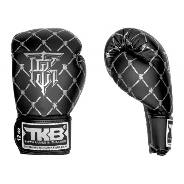 TOP KING 拳擊手套 CHAIN系列 - 黑/銀 - TK BG CHA BK/SI