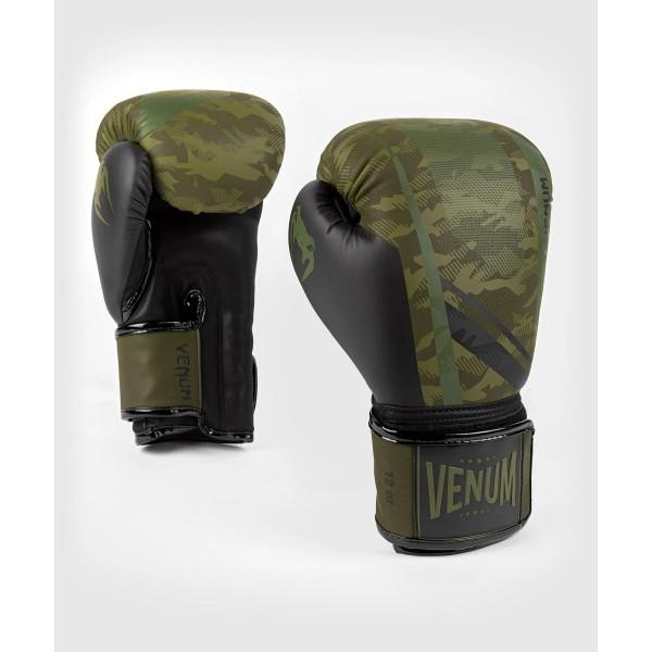 VENUM 迷彩騎兵 專業拳擊手套 - 森林迷彩/黑 - EU-04039-219