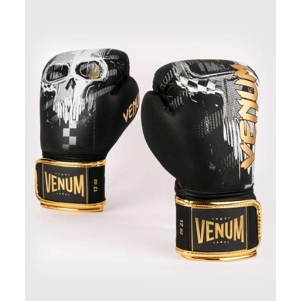 VENUM 骷髏 專業拳擊手套 - 黑 - EU-04035-001