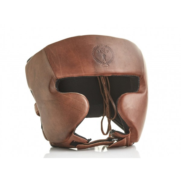 MVP RETRO系列 真皮拳擊頭盔 - 棕色 - RETRO HG