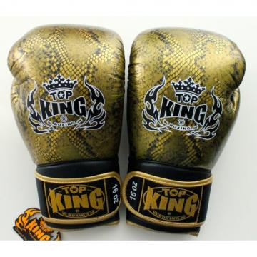 TOP KING 專業拳擊手套 蛇皮系列 - 金/黑 - TK BG SS GO/BK