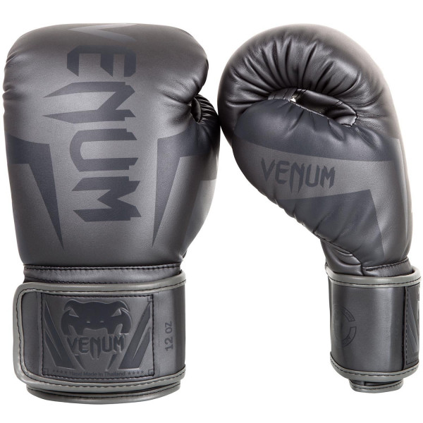 VENUM 專業拳擊手套 ELITE 菁英戰士系列 - 灰 - EU-0984-432