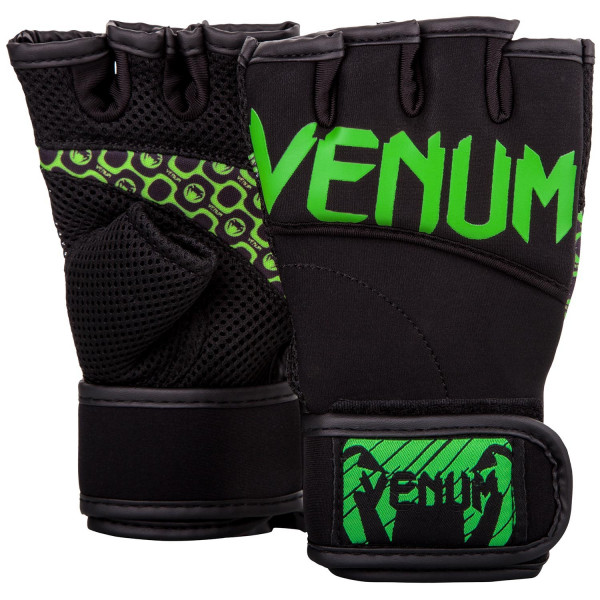 VENUM運動有氧/健身用露指手套-黑/螢光黃-EU-02817