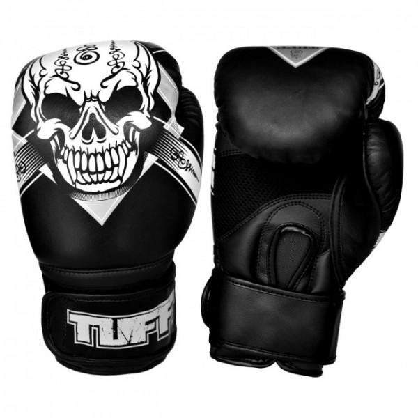 TUFF 骷髏頭系列 專業級拳擊訓練手套 - 黑 - GV-SKULL-BLK