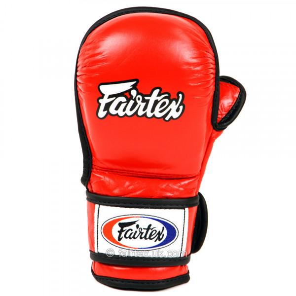 FAIRTEX MMA 露指拳套 - 紅 - FGV15