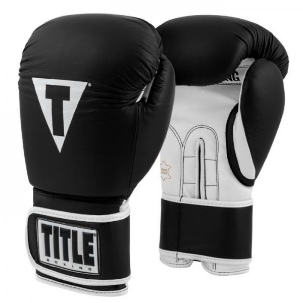 TITLE 經典系列專業拳擊訓練手套 - 黑/白 - TVVTG3