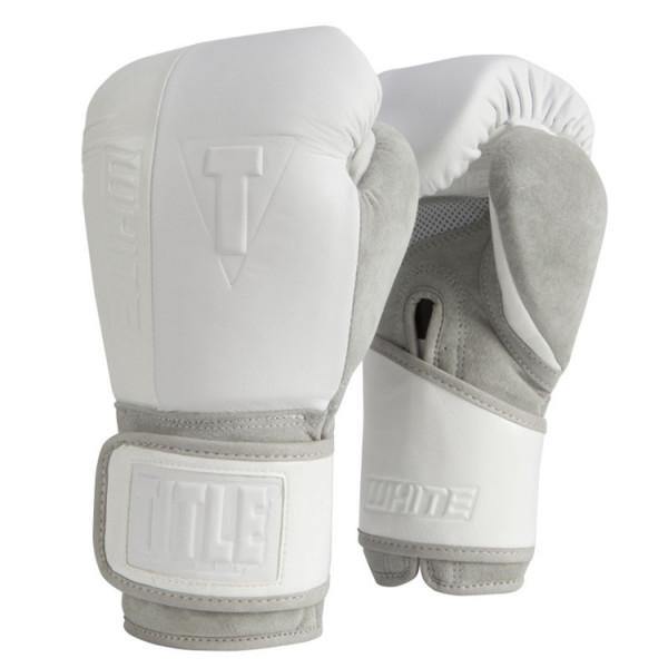 TITLE WHITE系列專業拳擊訓練手套 - 白 - WHOTTG