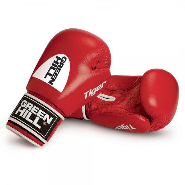 GREENHILL 老虎系列 標準款 專業拳擊訓練手套 - 紅 - BGT-2010