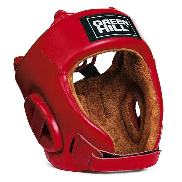 GREENHILL 專業級拳擊訓練頭盔 - 紅 - HGF-4013
