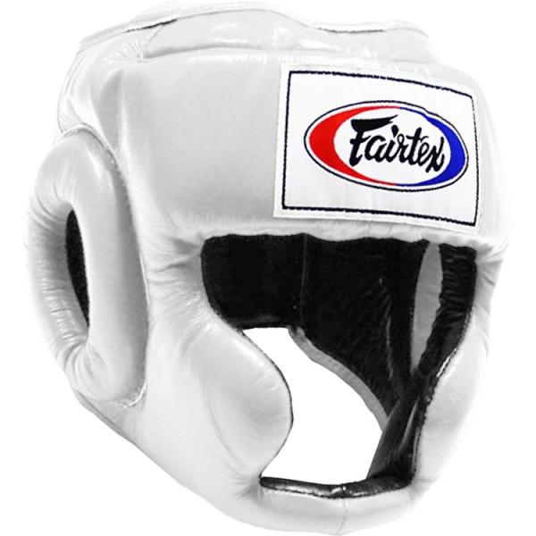 FAIRTEX  經典款專業級拳擊訓練頭盔 - 白 - HG3