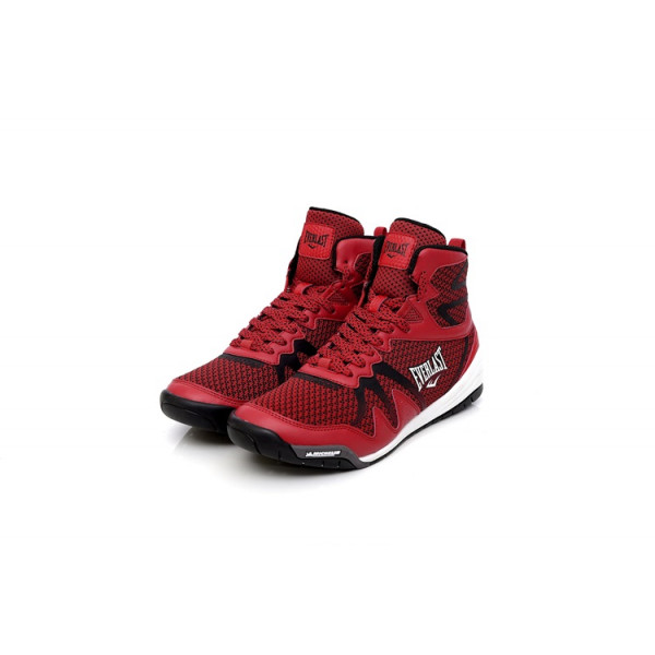 EVERLAST F1米其林鞋底 專業拳擊鞋 - 紅 男款 - 4721256340
