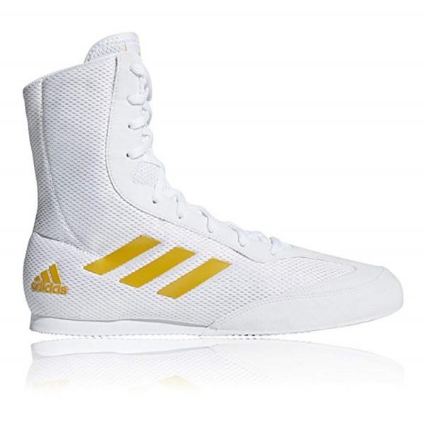 ADIDAS Box Hog系列拳擊鞋 - 白/金 - DA9899