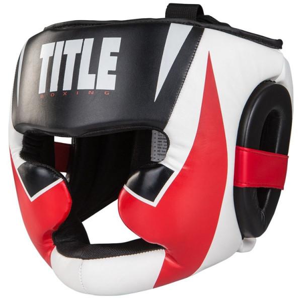 TITLE 專業級拳擊訓練頭盔 - 黑/白/紅 - XCHGF