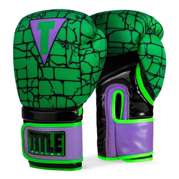 TITLE 英雄系列浩克 專業拳擊訓練手套 - 綠/紫 - IFWNBG5