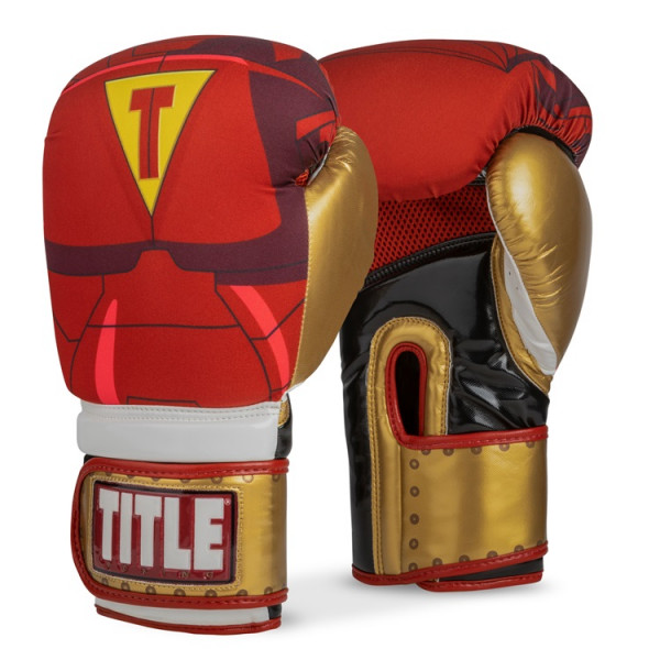 TITLE 英雄系列鋼鐵人 專業拳擊訓練手套 - 紅/金 - IFWNBG6