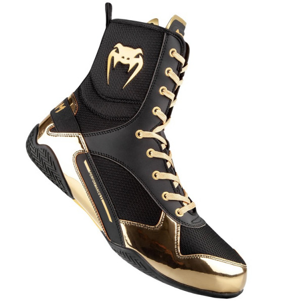 VENUM ELITE 菁英戰士系列 拳擊鞋 - 黑/金 - EU-03681-126
