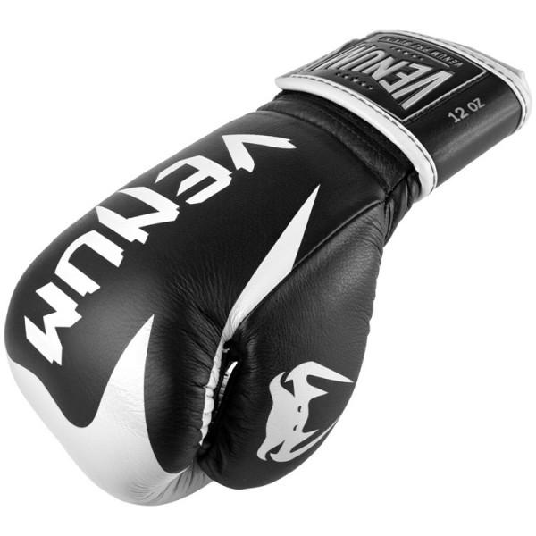 VENUM 頂級專業真皮拳擊手套 悍馬系列 - 黑/白- EU-03686-108