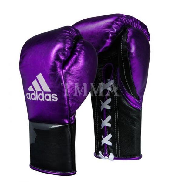 ADIDAS 頂級專業拳擊訓練手套 - 傳統馬毛填充 - 紫/黑 - ADIBFH
