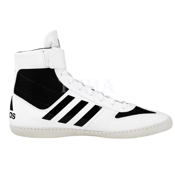 ADIDAS Combat Speed 5系列拳擊鞋 - 白/黑 - AXBS2