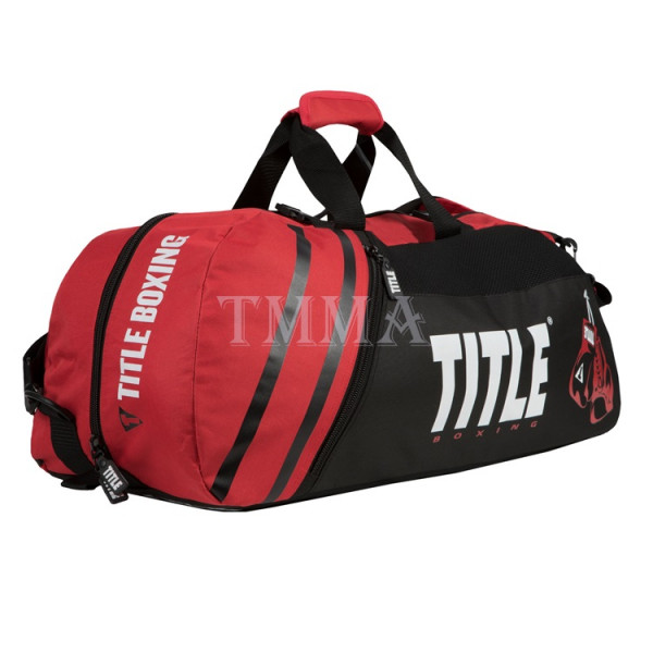 TITLE 運動旅行袋/護具袋 世界冠軍系列2.0 - 黑/紅 - TBAG25