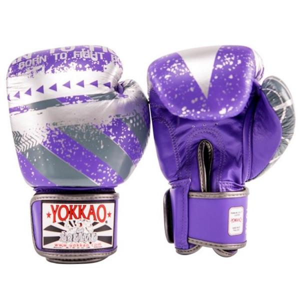 YOKKAO 專業拳擊手套 Hustle系列 - 紫/銀 - Violet/Silver