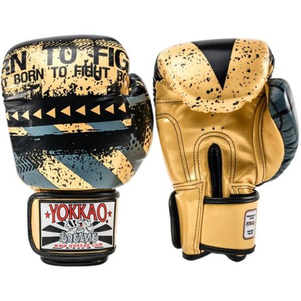 YOKKAO 專業拳擊手套 Hustle系列 - 金/黑 - Gold/Black