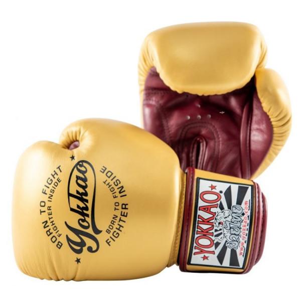 YOKKAO 專業拳擊手套 復古系列- 金 - Vintage