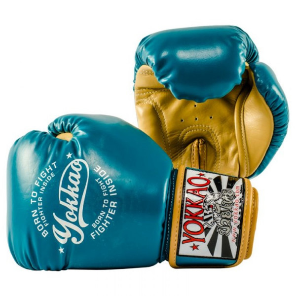 YOKKAO 專業拳擊手套 復古系列- 藍 - Vintage