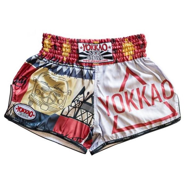 YOKKAO 泰拳褲 - 白 - Freedom
