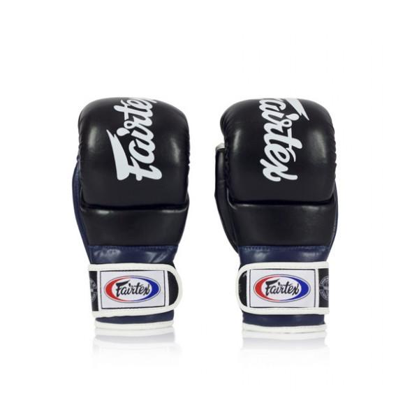 FAIRTEX MMA 加厚露指拳套 - 黑/藍 - FGV18