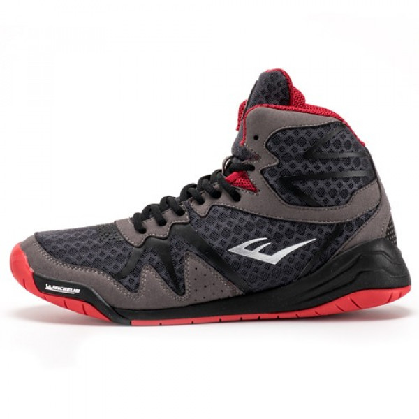 EVERLAST PIVT系列 專業拳擊鞋 - 灰/紅 - P00001076