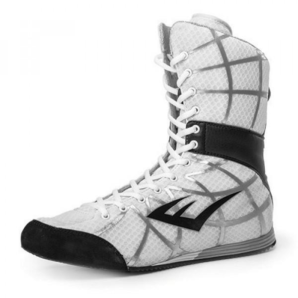 EVERLAST GRID網格系列 專業高筒拳擊鞋 - 白 - P00000078