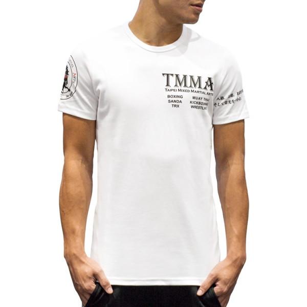 【TMMA限定】高磅數棉質短袖T恤- 白 - TMMA-002
